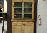 Glazed French Pine Bookcase
