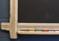 Original Large Pine School Blackboard