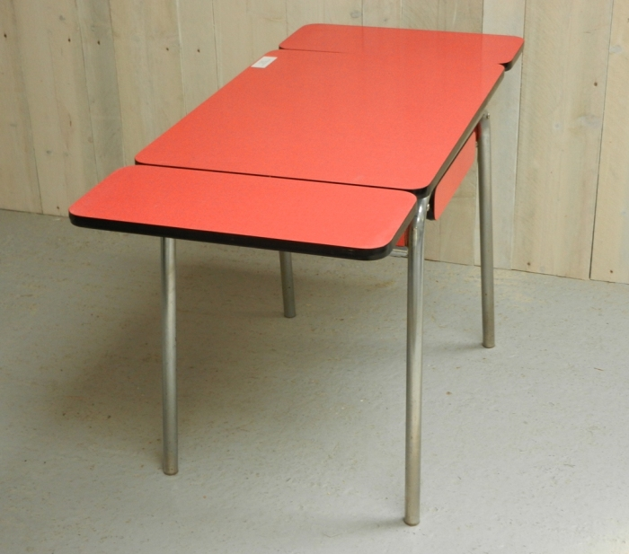 Red formica extending table and chairs v a vintage for Table formica