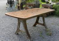 Large Industrial Metal Workshop Table