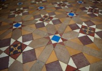 Geometric Floor Incorporating Encaustic Tiles