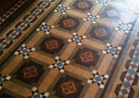 Original Victorian Geometric Floor Incorporating Encaustic Tiles