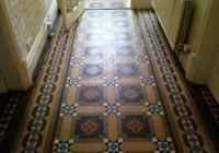 Original Victorian Geometric Floor Incorporating Encaustic Tiles