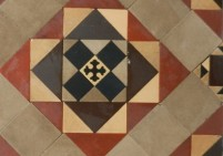 Original Geometric Floor Incorporating Encaustic Tiles
