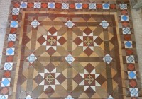 Original Geometric Floor Incorporating Decorative Encaustic Tiles