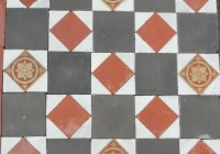 Reclaimed Geometric Floor Incorporating Encaustic Tiles