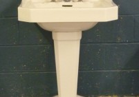 Original French Sink and Pedestal
