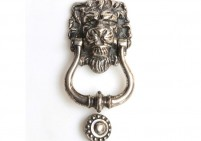 Nickel Lions Head Door Knocker