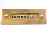 Classic Brass Letter Plate