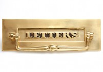 Classic Brass Letter Plate with Clapper