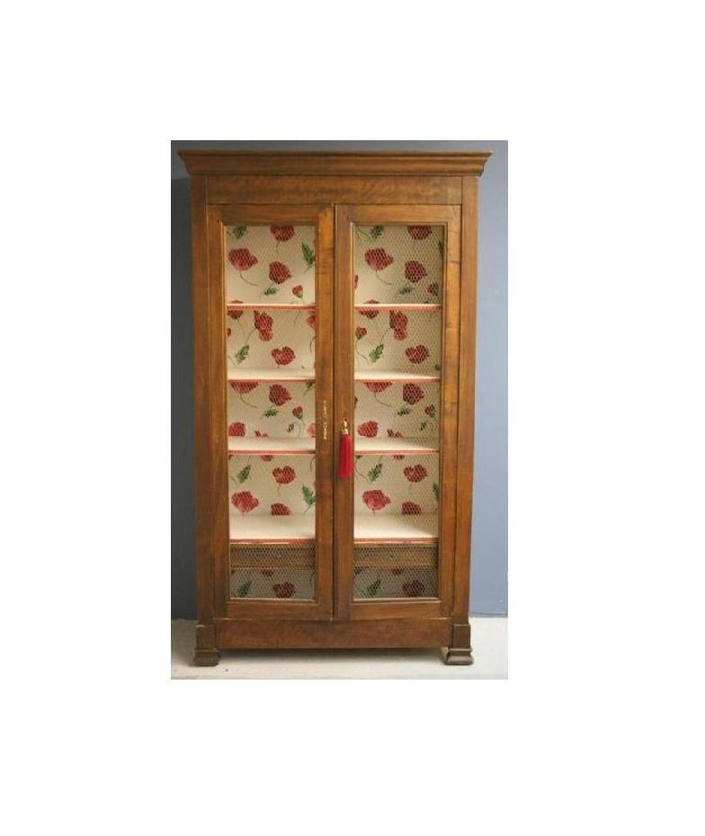 Vintage Display Cupboard With Floral Interior V A