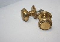 Brass Beaded Edge Cupboard Door Knob