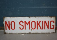 Enamel No Smoking Sign